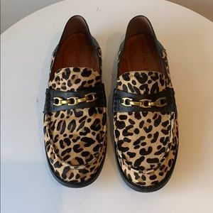 Coach leopard print loafers
